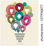 bulb lamp concept | Shutterstock .eps vector #157936877