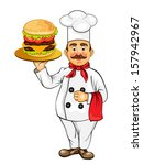 chef with hamburger | Shutterstock . vector #157942967