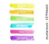 color stripes drawn with... | Shutterstock .eps vector #157946663