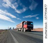 the truck driving on the highway | Shutterstock . vector #157954877