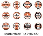 vector meat labels | Shutterstock .eps vector #157989527