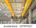 factory overhead crane inside... | Shutterstock . vector #157997027