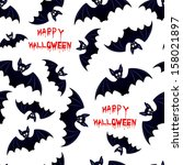 halloween bat   seamless... | Shutterstock . vector #158021897