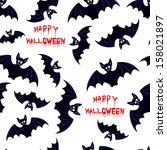 halloween bat   seamless... | Shutterstock . vector #158021897