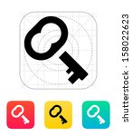 case key icon. vector...