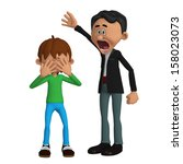 father angry with a child | Shutterstock . vector #158023073