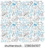 back to school doodle | Shutterstock .eps vector #158036507