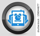 tablet clock icon | Shutterstock .eps vector #158044877