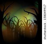 halloween background  | Shutterstock . vector #158049917
