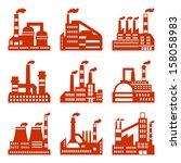 industrial factory buildings... | Shutterstock .eps vector #158058983