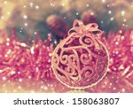 christmas red ball | Shutterstock . vector #158063807