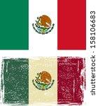 mexican grunge flag. vector... | Shutterstock .eps vector #158106683