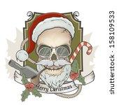 Scary Santa Claus Skull