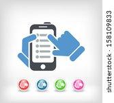 smartphone list icon   Shutterstock .eps vector #158109833