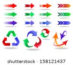 arrow icons set. colorful... | Shutterstock .eps vector #158121437