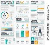 infographic elements big set... | Shutterstock .eps vector #158126747