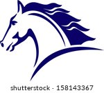 Stock vector horse symbol logo design 158143367
