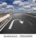 A U Turn Arrow Traffic Symbol...