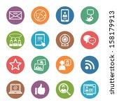 social media icons set 1   dot... | Shutterstock .eps vector #158179913