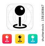 pushpin icon. vector...