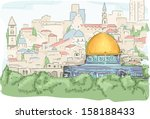 art,asia,cartoon,clip art,clipart,dome of the rock,eps,graphic,historical landmark,holy land tour,illustration,islam,israel,jerusalem,location