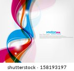 vector wave abstract background | Shutterstock .eps vector #158193197