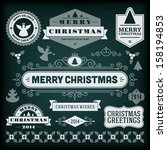 christmas decoration vector... | Shutterstock .eps vector #158194853
