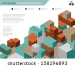 abstract web design   vector  ... | Shutterstock .eps vector #158196893