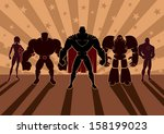 superhero team  team of... | Shutterstock .eps vector #158199023