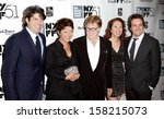 "Small photo of NEW YORK- OCT 8: Actor Robert Redford (C) and cast attend the premiere of ""All Is Lost"" at the New York Film Festival at Alice Tully Hall at Lincoln Center on October 8, 2013 in New York City."