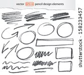 Vector Pencil Design Elements ...