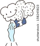 vector illustration of a cloud | Shutterstock .eps vector #158245823