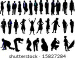 30 black people | Shutterstock .eps vector #15827284