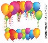 balloons design over white...   Shutterstock .eps vector #158274317