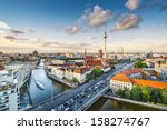 Stock photo berlin germany viewed from above the spree river 158274767