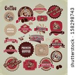 set of retro frames labels with ... | Shutterstock .eps vector #158298743