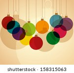 retro christmas background with ... | Shutterstock .eps vector #158315063