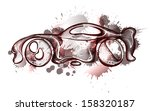 watercolor concept car. own... | Shutterstock .eps vector #158320187