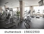 large  bright gym with workout...   Shutterstock . vector #158322503