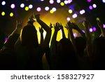 audience watching a rock show... | Shutterstock . vector #158327927