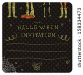 halloween postcard invitation.... | Shutterstock .eps vector #158334473