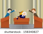 cartoon judicial sitting | Shutterstock . vector #158340827