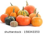 Pumpkins Family. Group Of...