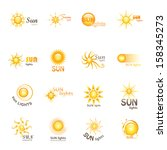 Sun Icons Set - Isolated On White Background - Vector Illustration, Graphic Design Editable For Your Design.