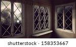 moody creepy sky with moon seen ...   Shutterstock . vector #158353667