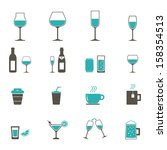 drink icon   color | Shutterstock .eps vector #158354513