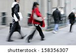 business people at rush hour... | Shutterstock . vector #158356307