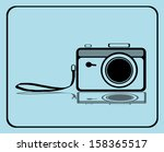 vintage camera with strap | Shutterstock . vector #158365517