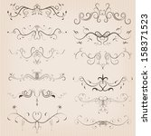 vintage calligraphic floral... | Shutterstock .eps vector #158371523