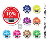 vector   sale up to 10   90... | Shutterstock .eps vector #158387417